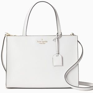 ♠️NWT kate spade optic white sam medium satchel♠️
